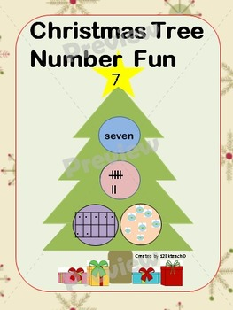 Christmas Tree Number Fun- Representing numbers to ten