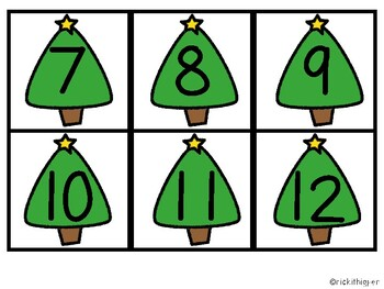 Christmas Tree Number Match-Up