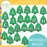 Christmas Tree Number Tiles Clip Art [MOVEABLE IMAGES}