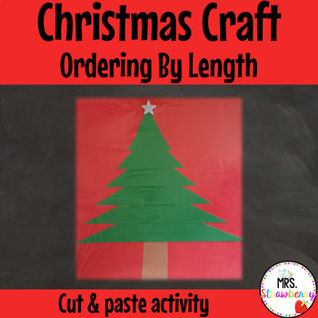 Christmas Tree Ordering By Length Cut and Paste Craft