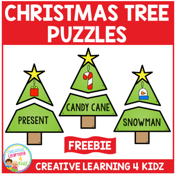 Christmas Tree Puzzles Freebie