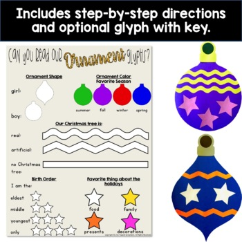 Christmas Tree Ornaments Craft or Glyph Activity - Christmas Tree Ornaments Craft Or Glyph Activity By Sweet Sensations