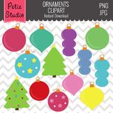 Christmas Tree Ornaments // Ornaments Clipart // Christmas Tree -Winter105