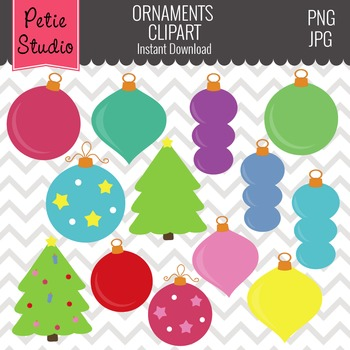 Christmas Tree Ornaments // Ornaments Clipart // Christmas Tree -Winter105