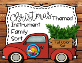 Christmas Tree Ornaments Themed Instrument Family Sorting Game Activity Station