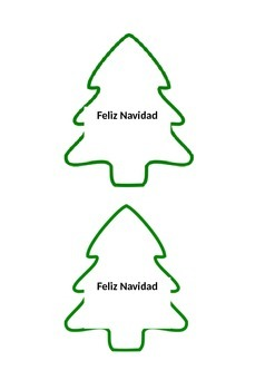 Christmas Tree Outline.Christmas Tree Outline For Christmas Necklace Craft Feliz Navidad