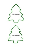 Christmas Tree Outline for christmas necklace craft Feliz Navidad