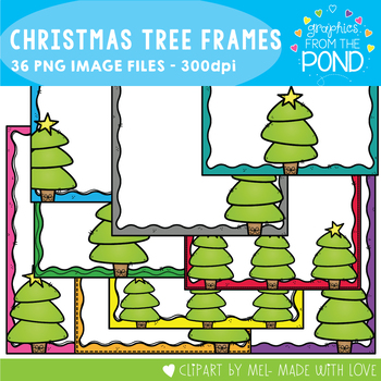 Christmas Tree Page Frames / Borders
