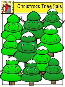 Christmas Tree Pals Clipart