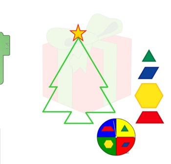 Christmas Tree Pattern Block Fill in