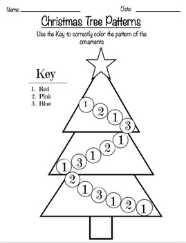 Christmas tree patterns by miss ps education corner tpt christmas tree patterns maxwellsz