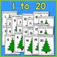 Christmas Tree Play-Doh Counting Mats - A Christmas Math Center