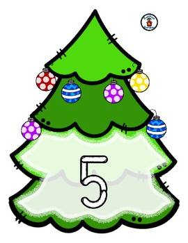 Christmas Tree  -  Play Dough Manipulative Mats - Alphabet Numbers Colors Shapes