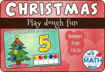 Christmas Tree Play Dough Math