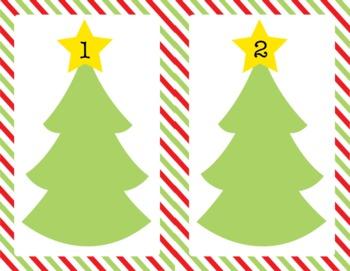 Christmas Tree Play Dough Mats
