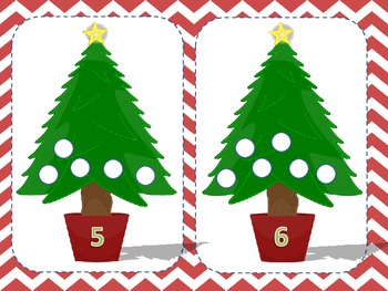 Christmas Tree Play Dough Mats - Fine Motor Skills and Number Recognition