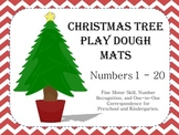 Christmas Tree Play Dough Mats - Fine Motor Skills and Num