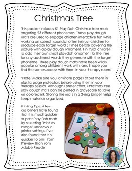 Christmas Tree Play Dough Mats for Articulation