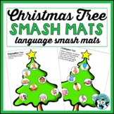Christmas Tree Play Dough Mats for Language