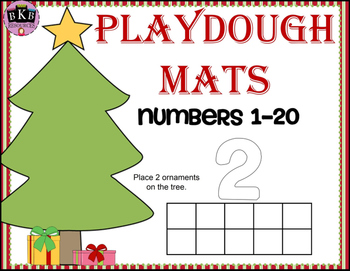 Christmas Activities ● Playdough Mats ● Numbers 1-20 ● Ten Frames ● Math Centers