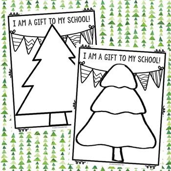 Christmas Tree Self Esteem Activity - Elementary School Counseling
