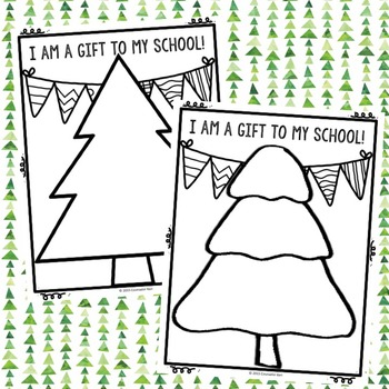 Christmas Tree Self Esteem Activity - Elementary School Counseling