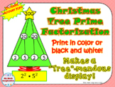 Christmas Tree - Prime Factorization, Prime Factors and Exponents