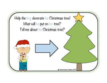 Christmas Tree Pronoun Practice Activity
