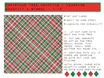 Christmas Tree Quantity & Symbol Counting 1-10