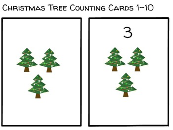Christmas Tree Quantity & Symbol Counting 1-10