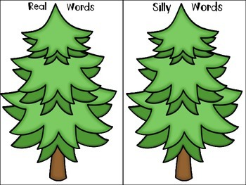 Christmas Tree Real-vs-Silly (Nonsense) Words FREEBIE