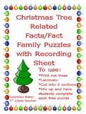 Christmas Tree Related Facts/Fact Family Puzzles