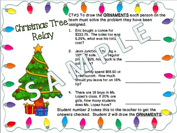 Christmas Tree Review Relay