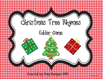 Christmas Tree Rhymes Folder Game