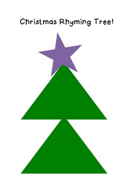 Christmas Tree Rhyming Activity!