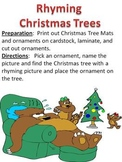 Christmas Tree Rhyming Game and Phonemic Awareness Literacy Activity