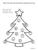 Christmas Tree Rhythms Coloring