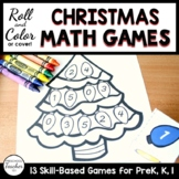 Christmas Tree Roll and Color Math Activities