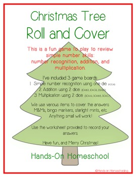 Christmas Tree Roll and Cover Game