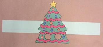 Christmas Tree Sentence Strip Hat Mask