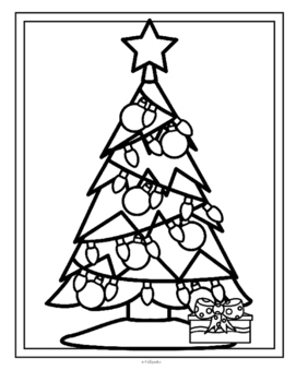 Christmas Tree Sequence Cut and Paste FREE