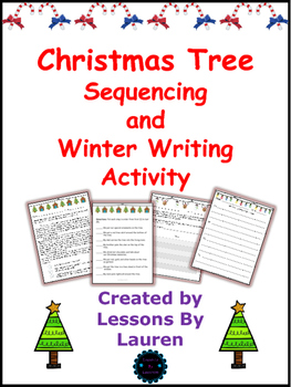 Christmas Tree Sequencing and Winter Writing Activity