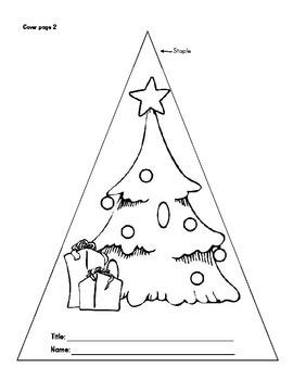 Christmas Tree Shape Book
