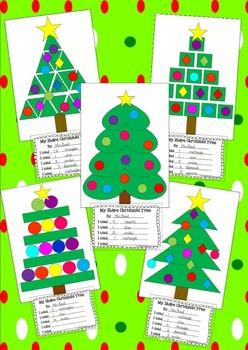 Christmas Tree Shape Craft Printables