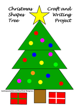 Christmas Tree Shapes Craft and Writing Project