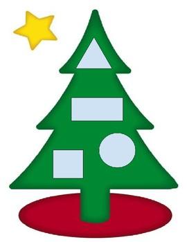 Christmas Tree Shapes Matching