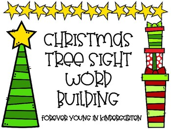 Christmas Tree Sight Word Building