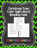 Christmas Tree Sight Word File Folder Game for Special Education