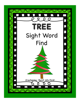 Christmas Tree Sight Word Find