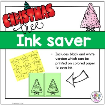 Christmas Tree Sight Word Match Dolch  Grade One List